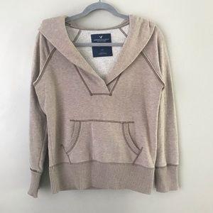 AEO Eagle Fleece V-neck  hoodie sweatshirt